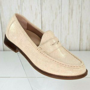 Vionic Waverly Ivory Leather Loafers Shoes 6 Women